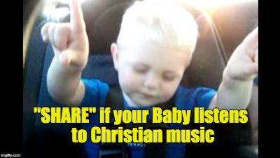 Baby Listening to Christian Music (Caught On Camera)