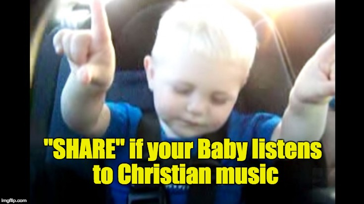 Baby Listening to Christian Music (Caught On Camera) | I Love Being Christian Videos