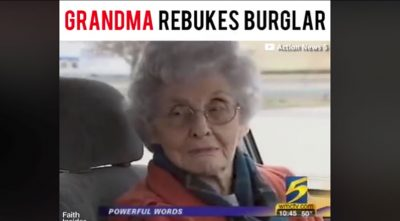 Grandma Rebukes Burglar (See Burglar's Life Transformed) (VIDEO)