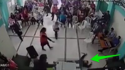 Man Tries To Kill Pastor – Holy Spirit Stops It (Caught On Camera) (VIDEO)