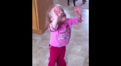 Baby Steps Into The Zone When Gospel Song Comes On (Caught On Camera)