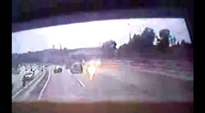 Angel Flying Beside Bus in Israel (VIDEO)