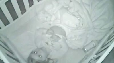 When They Lay Baby Down To Sleep And Step Out She Get's Caught On Camera Praying To God