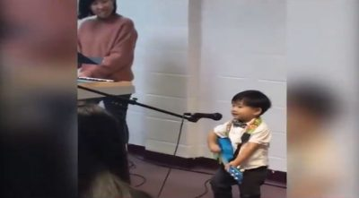 "Little Boy Worships The Lord by Singing a Very Cute Version of ""10,000 Reasons"""