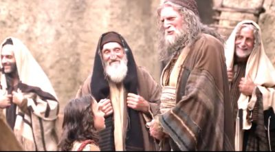 Young Jesus Answers The Rabbi's Questions As They Stand In Amazement