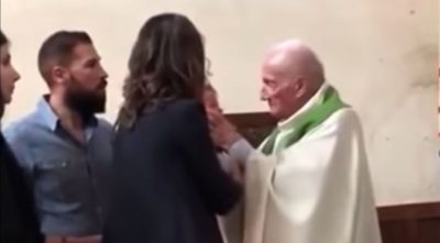 Unbelievable Video of Priest Attacking Baby