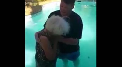 When 78yr Old Woman Wants To Be Baptized And Her Legs Won't Cooperate, This Happens…