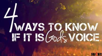 4 Ways To Know If It Is God's Voice