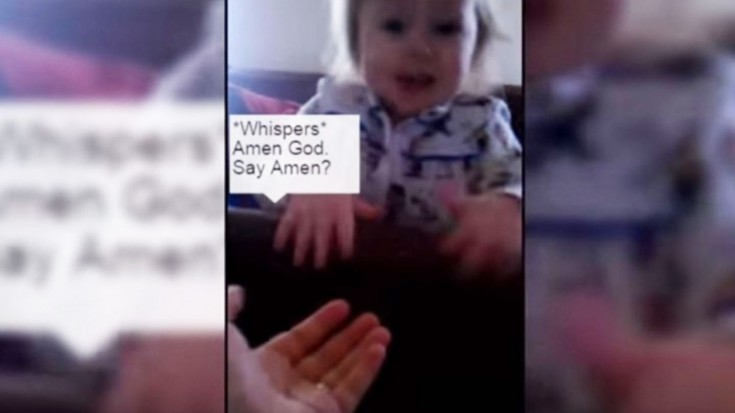 """Baby Girl Says """"The KING"""" Is Coming! (WATCH) 