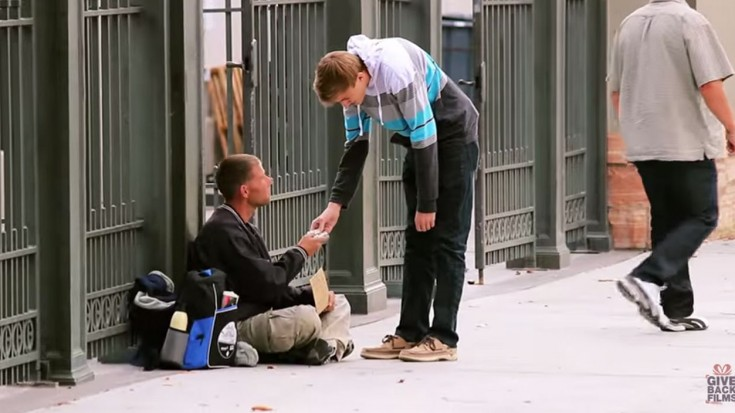 These Priceless Reactions of Homeless Receiving $100 Bills Will Have Your Heart Melting | I Love Being Christian Videos