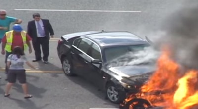 He Was Burning Alive Under Car, Can't Believe God Sent This To Save Him (WATCH)
