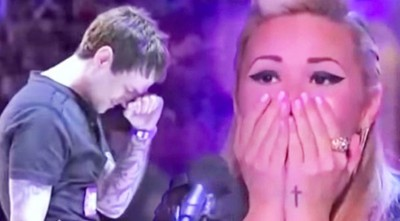Son Has Never Heard His Dad Sing…When He Picks Up The Microphone? IN TEARS!!