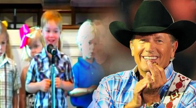 4 Year Old Livens Up His Church Recital With Some George Strait (LIVE)