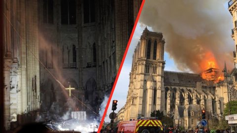 The Cross Remains Untouched Among The Notre-Dame Blaze | I Love Being Christian Videos