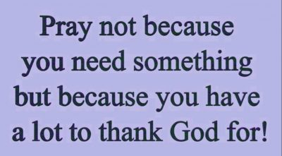 Prayer For Thanking God