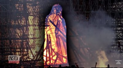 The Miraculous Image of Jesus Seen Walking Among the Flames of Notre Dame