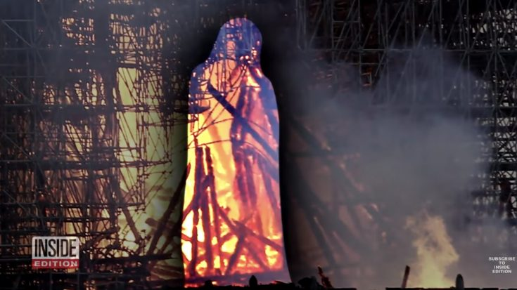 The Miraculous Image of Jesus Seen Walking Among the Flames of Notre Dame | I Love Being Christian Videos